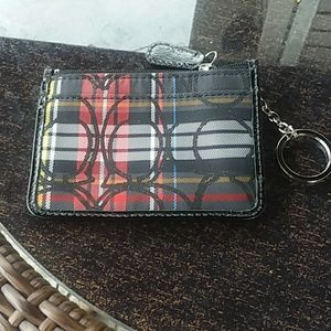 Coach signature plaid cardholder